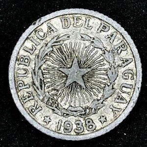 Paraguay - 1938  1 Peso - Aluminum - Rare Coin KM# 16
