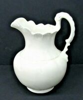 VTG Large White Ceramic Decorative Pitcher 12 Inches Tall