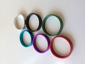 "Headset Spacers 7075-T6 Aluminum Anodized Three sizes 1"" , 1-1/8"" , 1-1/4"""