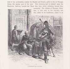 Basi Bozuk Baschi-Bosuks und Brotverkäufer HOLZSTICH um 1880 Beyoglu
