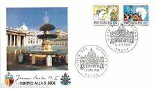 1996 - ENVELOPPE 1°JOUR - VATICAN- PAPE JEAN-PAUL II - RETOUR AU SIEGE - ROME