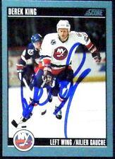 Derek King New York Islanders 1992-93 Score Signed Card