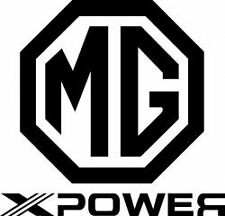 mg x power vinyl car sticker  rear window side decals bumper graphics 6x5.5 inch