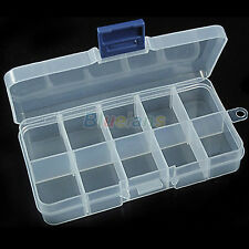 New Storage Case Box 10 Compartment for Nail Art Tips Jewelry Cosmetics Trinkets