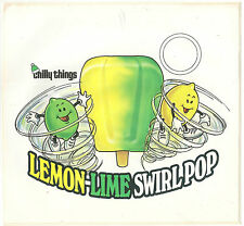 Chilly Things, Lemon-Lime Swirl Pop, Large Ice Cream Truck Decal/Sticker
