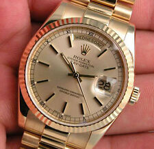 Rolex DAY-DATE 118238 Mens President Yellow Gold Champagne Index Dial 36MM