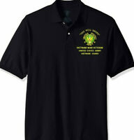 US ARMY VIETNAM USARV* ARMY EMBROIDERED LIGHT WEIGHT POLO SHIRT