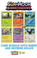 Pokemon Sun & Moon Burning Shadows 50 Card Bundle with rares & reverse holos
