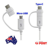 Genuine Samsung Adapter Cable Type-C Micro USB Combo Cord For HTC Wildfire X au