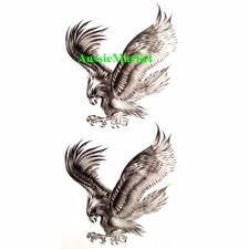 2 x temporary tattoo stickers eagle bird animal body art mens ladies usa america