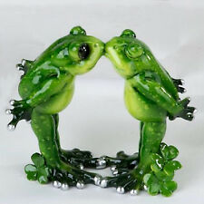 Formano Frosch Paar grasgrün 13cm Kunststein verschiedene Motive NEU