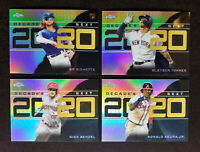 2020 Topps MLB Chrome Update Decade's Next Refractor Lot 4 Card NM/M w/ sleeves