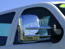 For Chevrolet Silverado/GMC Sierra Heavy Duty Chrome Towing Mirror Covers FULL