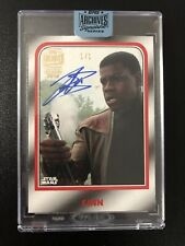 2018 Topps Star Wars Archives Signature Series John Boyega Finn Auto 1/1