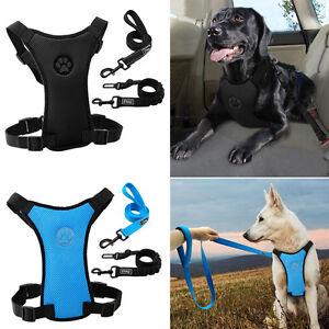 3pcs Safe Big Dog Car Harness&Vehicle Car Seatbelt&Reflective Dog Walking Leash