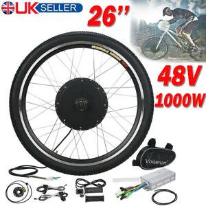 "48V 26"" Electric Bicycle Conversion E-Bike Front Motor Wheel Kit Cycling Hub UK"