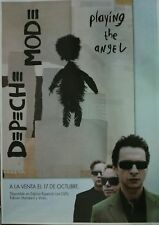 DEPECHE MODE PLAYING ANGEL SPANISH BIG PROMO POSTER 90cm X 140cm MUY RARO