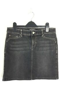 "WHITE HOUSE BLACK MARKET Black Denim Mini Skirt Women's Size US2 / 30"" Waist"