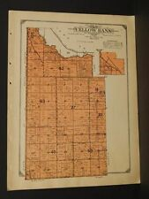 Minnesota Lac Qui Parle County Map Yellow Bank Township  1913  W3#22