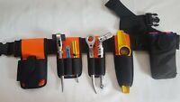 Scaffold Nylon Padded Tools Belt HI VIZ Double Spanner Frog,Level Tape Holder
