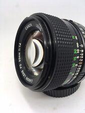 Canon 50mm F/1.4 FD Lens For Canon FD Mount w/ Lens Caps ++