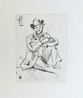 Paul Cezanne Portrait of Armand Guillaumin French Etching 11-3/4 x 10-1/2