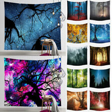 Psychedelic Forest Hippy Tapestry Trippy Wall Hanging Art Home Decor Tapestries
