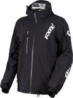FXR Black Mens Mission Lite Tri-Lam Non-Insulated Snowmobile Jacket Snow 2019