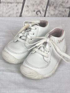 Stride Rite Rosie STG Girls White Upper Leather Ankle Boots Shoes Sz. 4.5 XW Use
