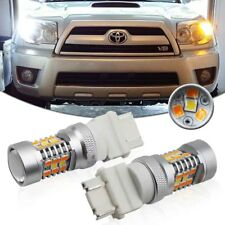 2PCS Universal Switchback Dual Color A/W 28-SMD LED Turn Signal Light DRL Bulbs