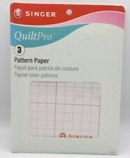 """PATTERN PAPER Singer QuiltPro NEW 3 Sheets 22.5"""" x 27.5"""" quilt sewing graph"""