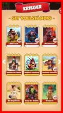 Set KRIEGER Komplett !!!! Coinmaster Coin Master Card Marssalat TOP