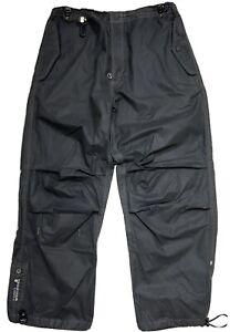 Maharishi Shower Repellent Snopant Tech Pants Baggy Zip Ankle Black Sz Medium