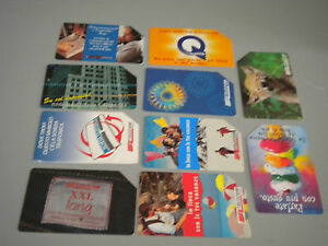 Stock 10 Used Phonecards Telecom all Different Used