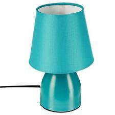 Lampe de chevet pied en métal Bleu turquoise Bureau   Luminaire  Ø 12 cm H 19.5