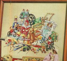 Antique Toys Christmas Cross Stitch Pattern from a magazine Nostalgic