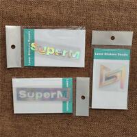 3pcs/set Kpop SUPERM 1st Mini Album Jopping Laser Sticker Logo Name LUCAS TEN