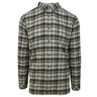 O'neill Men's Beige Redmond  Plaid L/S Flannel Shirt (Retail $60)