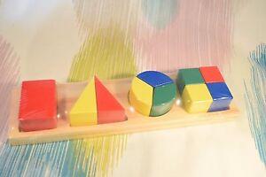 Kaper Kidz Children's Wooden Colourful Block Shapes Learn Fractions Puzzle!