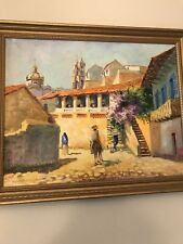 Vintage Taxco Original Oil Painting Signed And Framed