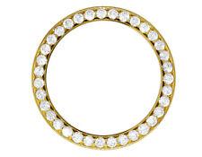 Gold Prong Set Diamond Bezel for Rolex Day-Date Datejust President 36mm 4.0 Ct