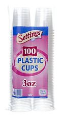 3 oz. Disposable Plastic Cups 100 Count CLEAR +++ FREE SHIPPING!