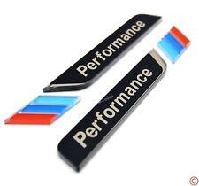 Black M Performance 3D Side Pillar Window Fender Trunk Emblem Badge Decal Plate