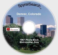 CO - Denver Metro 1967 Phone Book CD
