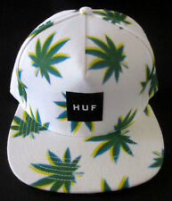 MENS HUF WEED SNAPBACK CAP ADJUSTABLE HAT ONE SIZE