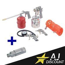 5 Outils / Accessoire pneumatique pour compresseur + adaptateur - GARANTIE 3 ANS
