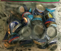 105 Beer Bottle Caps Mixed Lot of Blue #2 Bud Light Blue Moon Kona Red Hook
