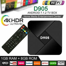 D905 S905x Android TV Box Smart  WIFI 4K 1+8GB Media Streamer Android 7.1