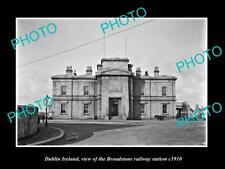 OLD LARGE HISTORIC PHOTO OF DUBLIN IRELAND, THE BROADSTONE RAILWAY STATION c1910