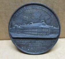 EXPOSITION UNIVERSELLE PARIS 1855 médaille bronze Palais de l'Industrie
